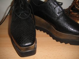 Exe Lace Shoes bronze-colored-black leather