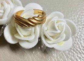 Echt Gold 750 Ring Gr 18 Gelbgold