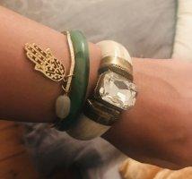 Bangle jasnozielony-szaro-zielony