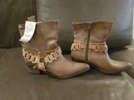 Perlatto Ankle Boots bronze-colored leather