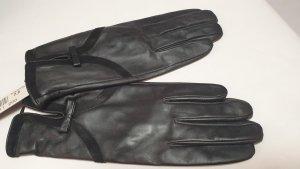 fraenklis Gants en cuir noir