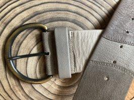 Cinturón de cadera marrón grisáceo-crema