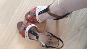 Caprice Strapped High-Heeled Sandals multicolored