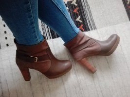 Via uno Platform Booties brown-dark brown