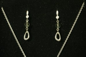 Swarovski Silver Earrings multicolored