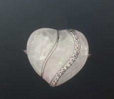 Echt Silber 925 Ring Neu mit Verpackung echter Stein Perlmutt