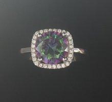 Echt Silber 925 Ring Neu mit Verpackung hochwertig Edelstein echter Topas