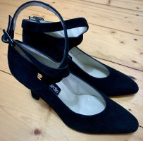Pierre Cardin Strapped pumps black-gold-colored leather