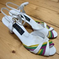 Amalfi Strapped High-Heeled Sandals multicolored leather