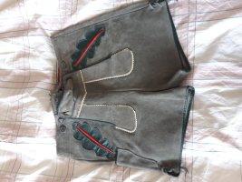 Skórzane spodnie jasnoszary