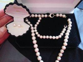 Echte Perlenset mit Silber 925 verschluss! TOP Zustand !