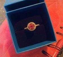 Zilveren ring zilver-roze