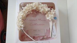 Echter Braut Blumenkranz Brautschmuck Diadem Haare Echte Blumen ivory getrocknet SALE/OUTLET