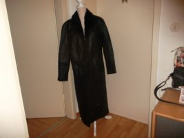 angelo litrico Leather Coat black leather