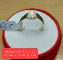 Echter Silberring mit Opal Cz