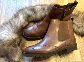 Echtes Leder braune Chelsea Boots/ Ankle Boots v Hush Puppies - NEU- Gr. 40