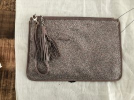 Clutch white-light brown leather