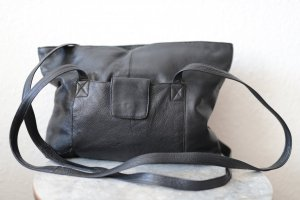Echtes Leder Tasche Schwarz