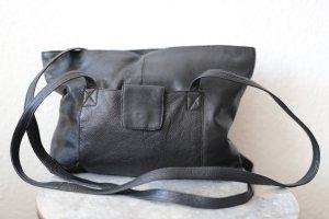 ECHT LEDER Bolsa de hombro negro Cuero