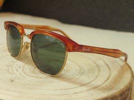 Echtes Vintage Teil! BENETTON Sonnenbrille mit POLAROID Gläsern..rotbraun/gold..extracool