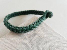Bracelet en cuir gris vert-bleu pétrole