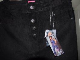 NKD Pantalón de cuero negro Cuero