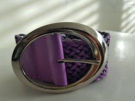 aus Italien Skórzany pasek niebiesko-fioletowy