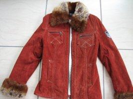 Echtleder Jacke von Gipsy mit Fake Fur, Gr. S