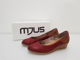 Mjus Zapatos de cuña rojo oscuro-carmín