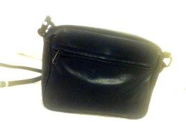 Echtleder kleine Crossbodybag, 80's,  m vielen Reißv.taschen