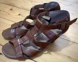 5th Avenue Roman Sandals brown-light brown leather