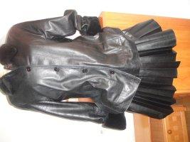D made in Italy Abrigo de cuero negro Cuero