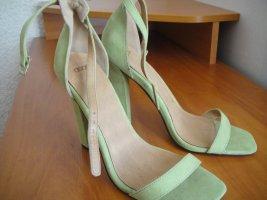Asos Sandalias de tacón alto verde pálido-verde claro Cuero