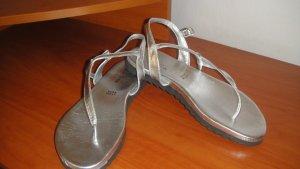 Vera Pelle Comfort Sandals silver-colored-black leather