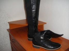 Bata Stretch laarzen zwart Leer