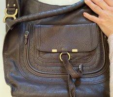 Echtleder Tasche dunkelbraun