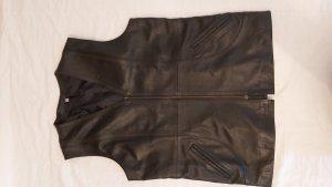 Efe leather Leren vest zwart