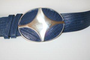 Lederen riem blauw