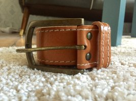 Cross Belt brown-gold-colored