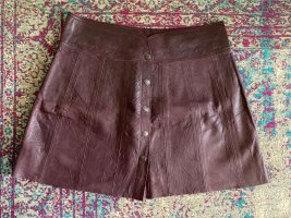 Cigno Nero Leather Skirt brown violet