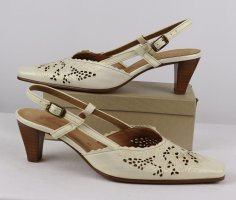 Gabor Slingback Pumps gold-colored-oatmeal leather