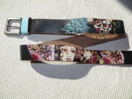 Ed Hardy Leather Belt black leather