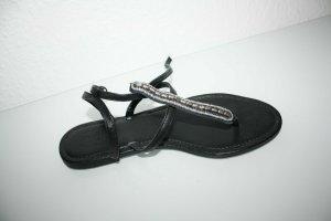edc by Esprit Flip-Flop Sandals black leather