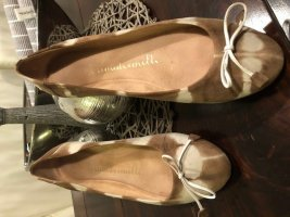 8 Ballerinas cream-beige leather