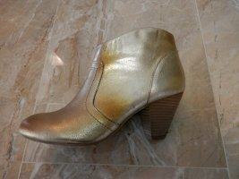 Aldo Booties gold-colored leather