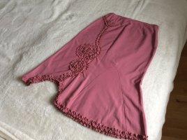 Promod Spódnica midi różowy Tkanina z mieszanych włókien
