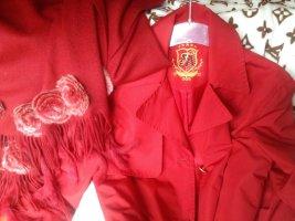 Edel Stück aus UK MF Mondi Fashion Trenchcoat Jacke in Rot/Gold Gr.36 wie neu