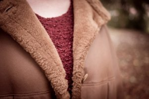 Walbusch Leather Coat multicolored fur