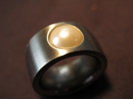 Bague incrustée de pierres argenté