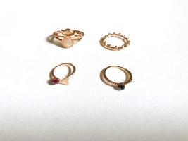 Edelstein Ring Set 4tlg.